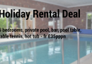 Holiday Rental in Suffolk – Private Pool, Games Facilities, Hot Tub – £35pppn