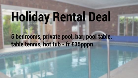private holiday rental with pool uk