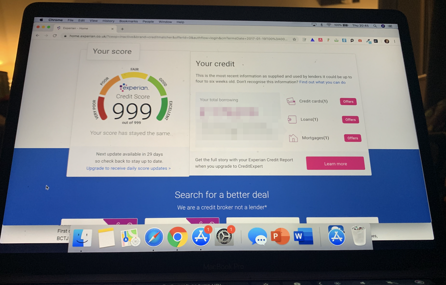 Credit score online experian